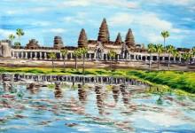 le temple d'Ankgor Vat  ( Cambodge )