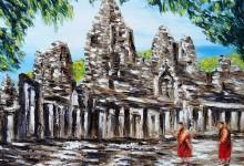 Le temple de Bayon ( Cambodge )