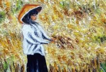 La récolte du blé ( Birmanie )