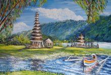 Le temple de la déesse du lac Bratan ( Bali )